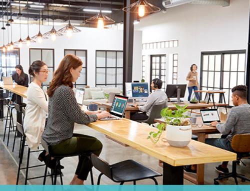 Espace de travail flexible au bureau